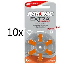 Rayovac Hörgerätebatterie Typ 13 Extra, Mercury Free, 60 Stück, Neue Verpackung