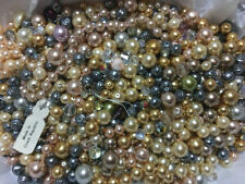 LOT OF VINTAGE VINTAGE CZECH GLASS PEARLS, AB BEADS & MORE- C31