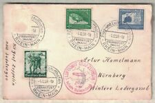 1938 LUFTSCHIFF GRAF ZEPPELIN SUDETENLAND MAILED ON BOARD COVER MULTIPLE CANCEL