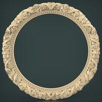 (1588) STL Mirror Frame for CNC Router 3D Printer Artcam Aspire Cura