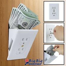 Hidden Wall Safe Secret Electical Outlet Vault Plug Hide Money Jewelry Valuables