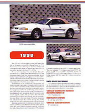 1998 Ford Mustang Convertible Article + VIN Decode - Must See !!