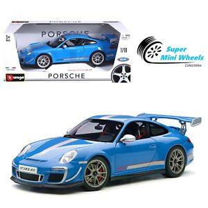 Bburago 1:18 Porsche 911 GT3 RS 4.0 (Blue) Diecast Model