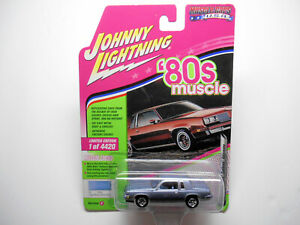80'S MUSCLE BLUE 1983 OLDS CUTLASS SUPREME DIE-CAST CAR wRRs BY JOHNNY LIGHTNING
