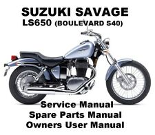 SUZUKI SAVAGE LS 650 BOULEVARD S40 Service Workshop Repair Parts Manual PDF CDR