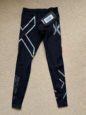 2XU Mens Compression Tights,XS,Black/Silver,NEW