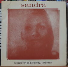"SANDRA L'ACCORDEON DE BROADWAY  45t 7"" FRENCH EP"