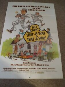 """THEY WENT THAT-A-WAY AND THAT-A-WAY(1978)TIM CONWAY ORG ONE SHEET POSTER 27""""BY41"""