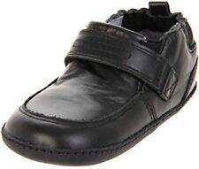 NIB ROBEEZ Mini Shoez Shoes Robby Black Leather Dress Shoes 3-6m 2