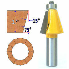 "1 PC 1/2"" Shank 1"" Cutting Depth 15° Chamfer  Router Bit  sct-888"