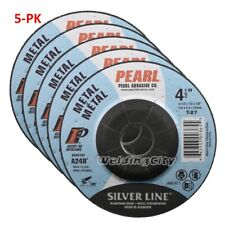 5-PK Pearl Abrasive DC4510T Depressed Center Grinding Wheel 4-1/2 x 1/4 x 7/8