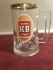 RARE VINTAGE COLLECTABLE TOOTHS KB LAGER BEER GLASS GREAT USED CONDITION