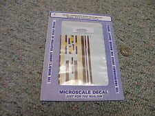 Microscale decals N 60-821 Lackawanna DLW passenger unit stripes E F etc   D43