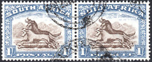 South Africa 1933-48 1s brown & chalky blue, SG.62, VFU cat.£18