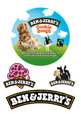 """Ben & Jerry's Ice Cream label wrap around 6"""" top ICING WAFER edible cake topper"""