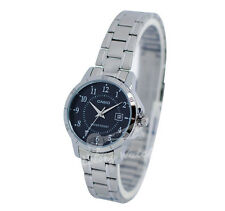-Casio LTPV004D-1B Ladies' Analog Metal Watch New & 100% Authentic
