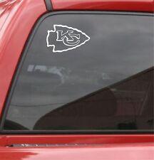 SET of 2 Kansas City Chiefs Vinyl Car Truck Decal Window Sticker