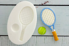 Silicone Mould,Tennis Racquet & Ball, Food Grade, Ellam Sugarcraft  M022