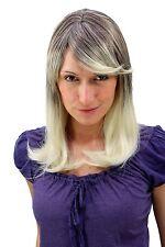 Damenperücke braun hellblond auslaufend glatt lang Perücke 50 cm wig 3120-6T613