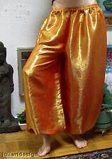 Harem Pants Belly Dance Gold w/ Orange Glow