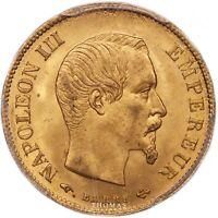 Napoléon III - 10 Francs or - 1859 A Paris - PCGS MS 65 - FDC - Top population