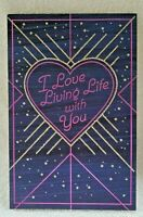 NEW American Greetings I Love Living Life With You VALENTINES DAY Card+envelope