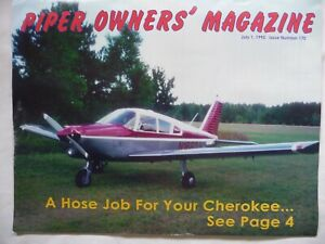 1995 Piper Owner's Magazine Cherokee Hoses Turbo Lance Leaning Wing Tip Mod Tach