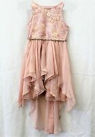 Rare Editions Blush Sequin Embroidered Dress Big Girls Size 7