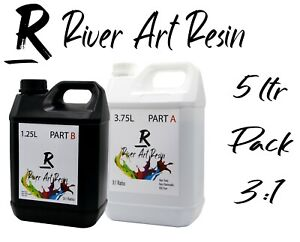 5 Litre River Art High Performance 3:1 Epoxy Resin Ultra-Clear River Tables