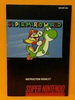 Super Mario World - Super  Nintendo SNES Instruction MANUAL ONLY - No Game !!