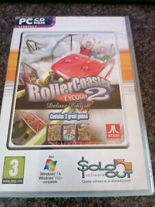 RollerCoaster Tycoon 2 Deluxe Edition inc Wacky Worlds & Time Twister PC CD-ROM