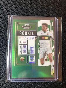 Lucas Boye 20-21 Panini Contenders Ticket Optic Soccer Rookie RC Green Prizm 5/5