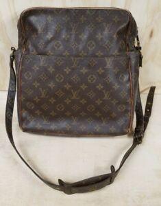 LOUIS VUITTON MARCEAU Shoulder Bag Purse Monogram Vintage Brown Damaged