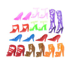 10pair Colorful Doll Accessories Shoes Heels Sandals For Barbie Doll Toy Gift BH