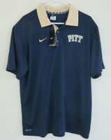 New Mens Nike University Of Pittsburgh Panthers DRI-FIT Golf Polo Shirt Size XL