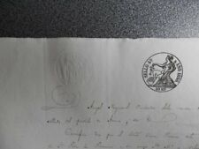 MANUSCRITO AÑO 1855 FISCAL 4º ARZUA GALICIA - REVISIÓN PAPEL SELLADO CURIOSO