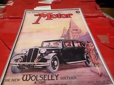 set of 4 the motorcar magazine laminated front covers 1930's &1941 bx10 1100270