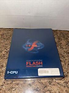 Macromedia FLASH Remoting MX 1-CPU Brand New Sealed Big Box PC Estate Item RARE