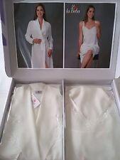 Parure 2 pezzi vestaglia e camicia da notte Birba.Art.1001 Col.Panna. A286