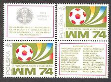 POLAND 1974 **MNH SC#2036a ST,+L. S MEDAL, SOCCER MU`74