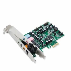 Syba SD-PEX63081 7.1 Surround Sound PCIe Sound Card, S/PDIF In & Out CM8828 Chip
