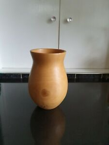 Turned Wooden Vase - Holly