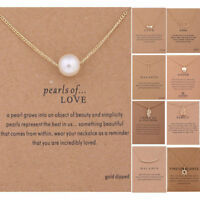 Women Pendant Gold Necklace Charming Unicorn Choker Clavicle Chains Gift Jewelry