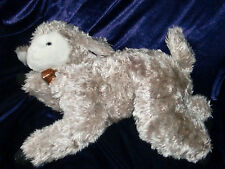 GUND STUFFED PLUSH 1991 LAMB WHITE FACE BROWN CHAMPAGNE COLOR BODY SHEEP BELL