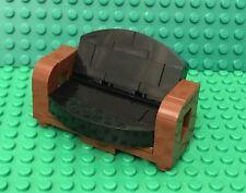 Lego MOC Reddish Brown / Black Sofa Recliner Mini Figures Couch Bed Convertible