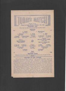 Coventry City v British Army 1961/62 Friendly