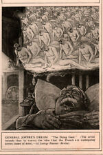 1915  WWI  CARTOON POLITICAL GENERAL JOFFRE DREAM THE DYING GAUL