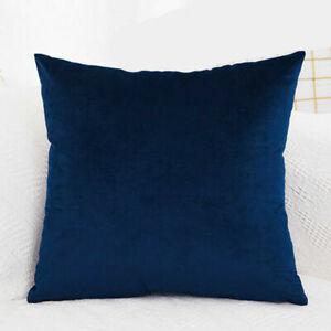 """16"""" 18"""" 20"""" 22"""" 24"""" Large Velvet Plain Cushion Cover Pillow Case Room Sofa Decor"""