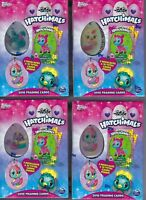 (4) 2018 Topps HATCHIMALS Trading Cards Value/Blaster Box LOT = 2 Necklaces/Box
