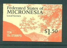 Micronesia 1989 $1.50 Waterfalls Booklet